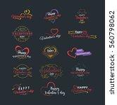 happy valentines day vector... | Shutterstock .eps vector #560798062