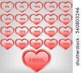 procent heart 0  100  water...   Shutterstock .eps vector #560803246