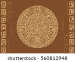mayan calendar. images of... | Shutterstock .eps vector #560812948