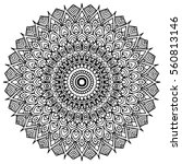mandalas for coloring book.... | Shutterstock .eps vector #560813146