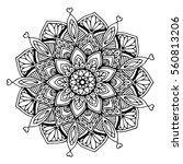 mandalas for coloring book.... | Shutterstock .eps vector #560813206
