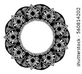 mandalas for coloring book.... | Shutterstock .eps vector #560814202