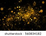 Abstract Golden Sparkles On...