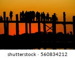 u bein brige mandalay myanmar... | Shutterstock . vector #560834212