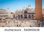 piazza san marco with the... | Shutterstock . vector #560840638