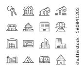property and accommodation icon ... | Shutterstock .eps vector #560841202