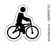 bicycle extreme sport icon... | Shutterstock .eps vector #560850715