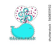 fashion patch badges with cute... | Shutterstock .eps vector #560855932