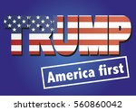 january 20  2017  donald trump... | Shutterstock .eps vector #560860042
