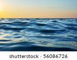 wave on sunset. nature... | Shutterstock . vector #56086726