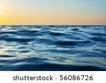 wave on sunset. nature... | Shutterstock . vector #56086726