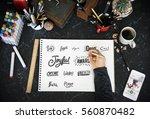 calligraphy design typography... | Shutterstock . vector #560870482