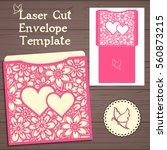 lasercut vector wedding... | Shutterstock .eps vector #560873215