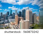downtown houston skyline in... | Shutterstock . vector #560873242