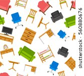 colored furniture vector... | Shutterstock .eps vector #560880676