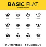 basic set of basket  cost... | Shutterstock .eps vector #560888806