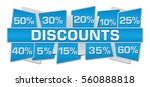 discount up down blue squares  | Shutterstock . vector #560888818