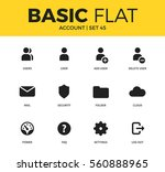 basic set of account  user and... | Shutterstock .eps vector #560888965