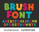 color capital handwritten... | Shutterstock .eps vector #560889088