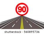 sign restriction speed.... | Shutterstock . vector #560895736