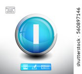 3d glossy blue button with... | Shutterstock .eps vector #560897146