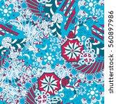 tracery seamless calming... | Shutterstock .eps vector #560897986