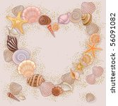 Heart Made With Seashells And...
