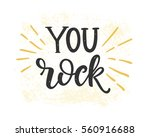 you rock valentines day card... | Shutterstock .eps vector #560916688