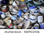group of bowl put for sale in... | Shutterstock . vector #560922436