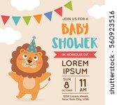 cute lion illustration for baby ... | Shutterstock .eps vector #560923516