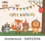 cute wildlife animals cartoon... | Shutterstock .eps vector #560923546
