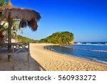 indrayanti beach in gunungkidul ... | Shutterstock . vector #560933272