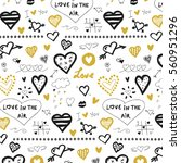 doodle hearts  valentine's day... | Shutterstock .eps vector #560951296