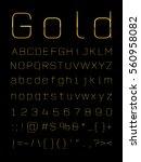 gold letter set  | Shutterstock .eps vector #560958082