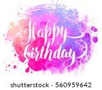 vector hand painted watercolor... | Shutterstock .eps vector #560959642