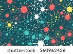 seamless pattern of colored... | Shutterstock .eps vector #560962426