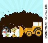 Bulldozer Rearranging Garbage...