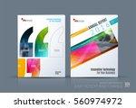 business vector. brochure... | Shutterstock .eps vector #560974972