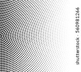 vector halftone dots. black... | Shutterstock .eps vector #560981266