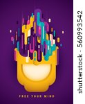 conceptual abstract style... | Shutterstock .eps vector #560993542