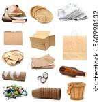 set of recycled household trash | Shutterstock . vector #560998132
