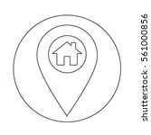 real estate house icon | Shutterstock .eps vector #561000856