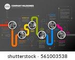 vector infographic company... | Shutterstock .eps vector #561003538