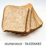 Sliced  Bread To Toast Isolate...