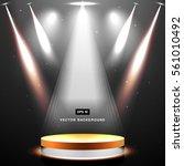 studio background with lighting ... | Shutterstock .eps vector #561010492