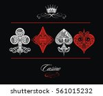 playing card ornamental | Shutterstock .eps vector #561015232