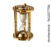vintage brass hourglass...   Shutterstock . vector #561027706