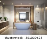 spacious and bright modern... | Shutterstock . vector #561030625