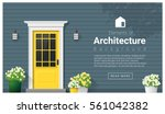 elements of architecture  ... | Shutterstock .eps vector #561042382