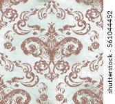 vector illustration. damask... | Shutterstock .eps vector #561044452